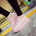2016 Весна Новая Мода Женщины Повседневная Обувь Корейский Стиль Платформы Женская Обувь Дышащая Досуг Зашнуровать Небольшой Белые Туфли ST347