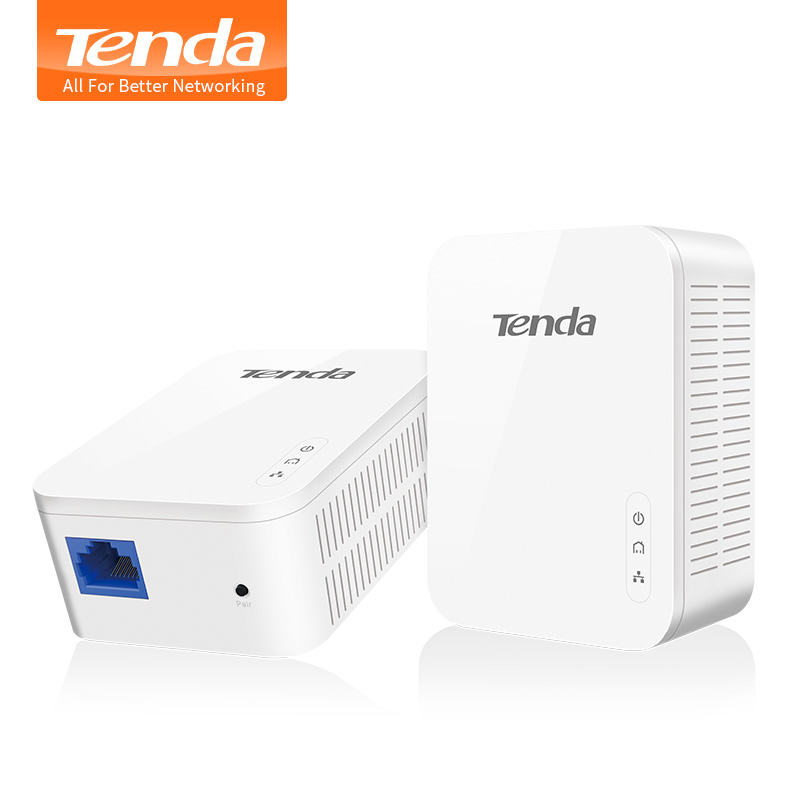 1Pair Tenda PH3 1000Mbps Powerline Network Adapter, AV1000 Ethernet PLC Adapter,Wireless WiFi Router Partner, IPTV, Homeplug AV2 адаптер powerline tenda ph10 набор powerline адаптер av1000 extender ac650