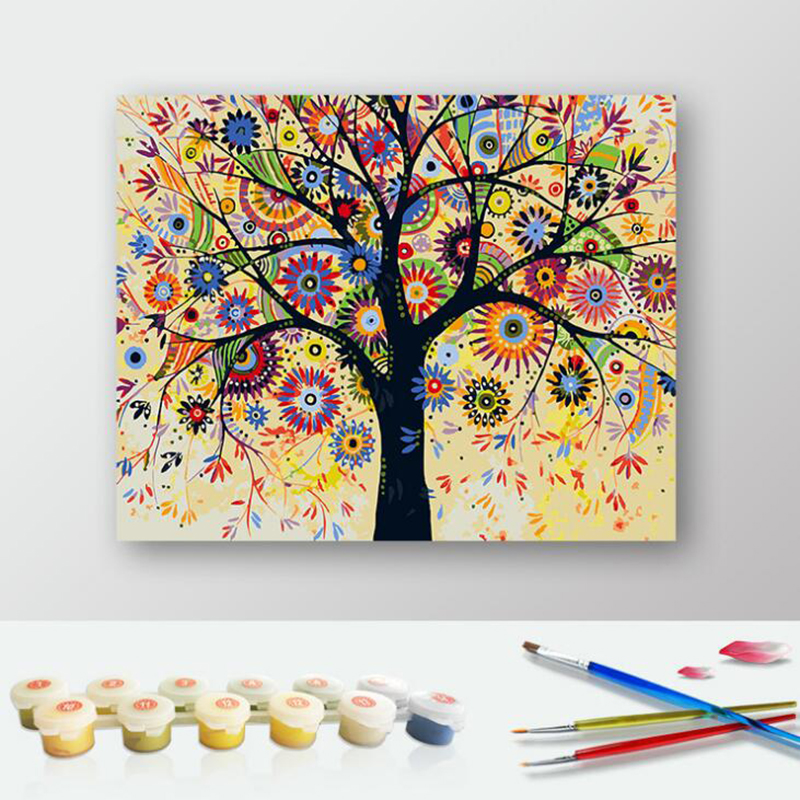 Abstract Tree Landscape Painting By Numbers Pictures On The Wall Canvas Painting Hand Painted Oil Painting m2