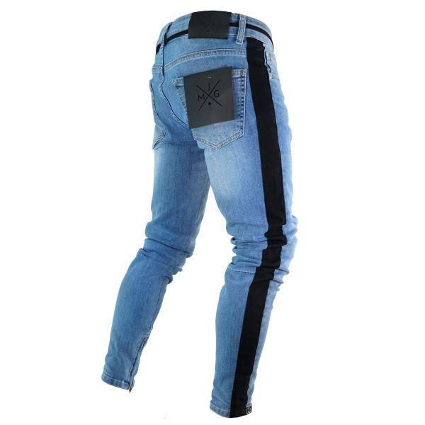 Jeans for Men Long Men's Fashion Spring Hole Ripped Jeans Slim Thin Skinny Pencil Pants Hiphop Trousers Clothes Clothing