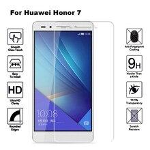 2 uds vidrio templado para Huawei Honor 7 película protectora de pantalla 9H 2.5D vidrio templado para Huawei Honor 7 Honor7 PLK L01 PLK AL10