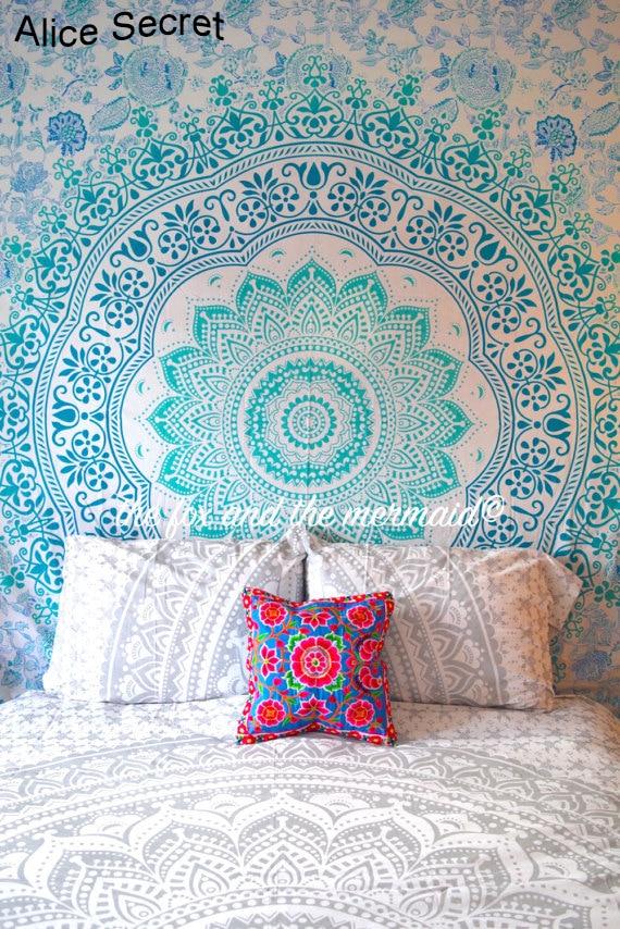 Warme strandlaken Beddengoed Outlet Mandala Tapestry Crystal Arrays - Thuis textiel