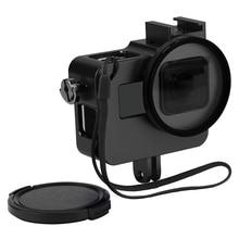 ATIRAR CNC Da Liga de Alumínio Capa Protetora para GoPro HERO 5 Preto Gaiola câmera de Montagem com 52mm Lente UV para GoPro Hero 5 acessório