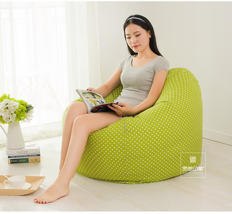 ФОТО The Green point style Bean Bag Chair Garden Camping Beanbags covers Lazy Sofa Anywhere Portable Sitting Cushion 90x90 cm