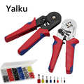 Yalku mit 1200 Draht Terminal Crimpen Werkzeuge Zangen 0,25-10mm2 Crimper Zange Set Selbst-anpassung Crimpen Zangen Hand werkzeug