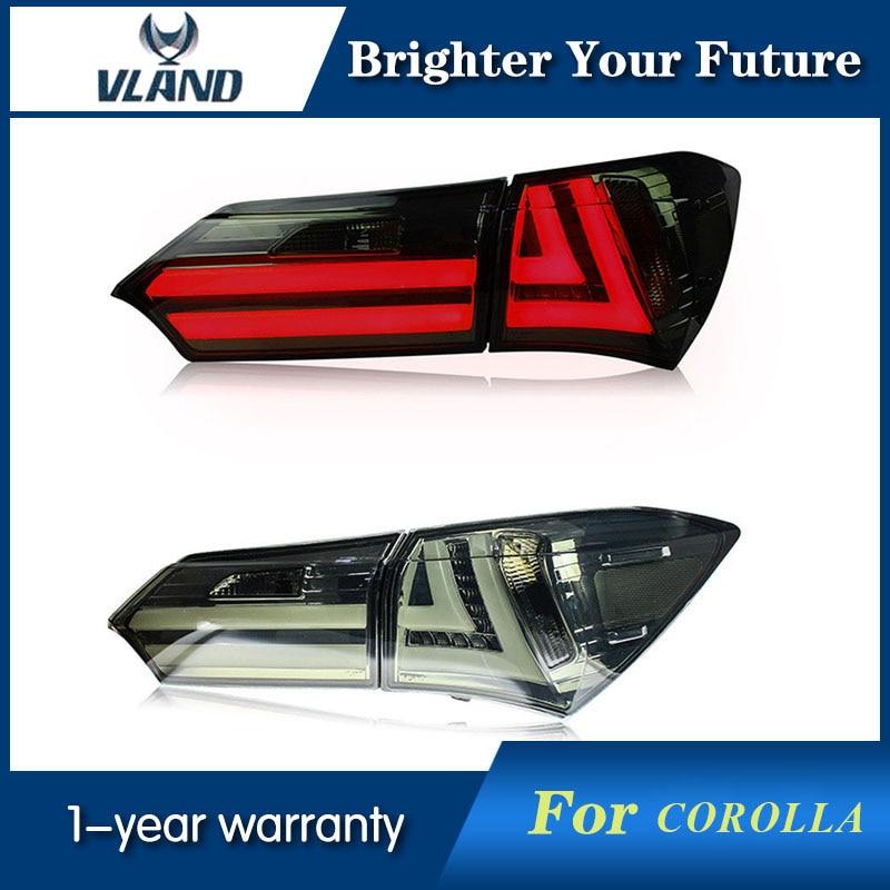 Задние фонари дым черный Цвет для Toyota Corolla 2014 2015 2016 светодио дный фонарь задний фонарь с поворотом световой сигнал