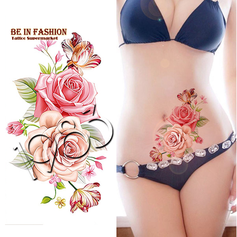 Popular rose arm tattoos buy cheap rose arm tattoos lots for Where can i get a temporary tattoo