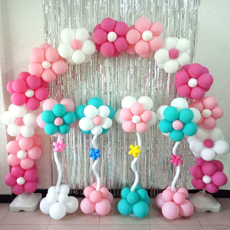 Flower column road guide arch balloon birthday party opening decoration shopping mall layout wedding decoration scene props