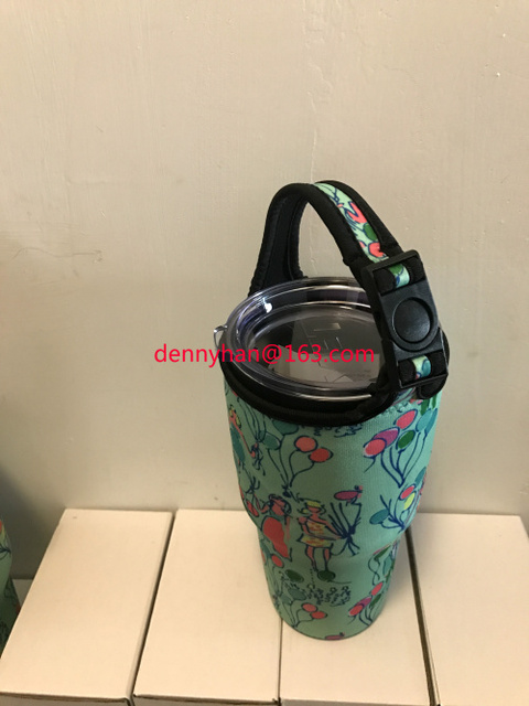 84968445b63a68 2016 New With Lilly Pulitzer Hard Transparent Pop Neoprene Bottle Holder  For Rtic Tumbler and YETI Tumbler 30oz Free Shipping