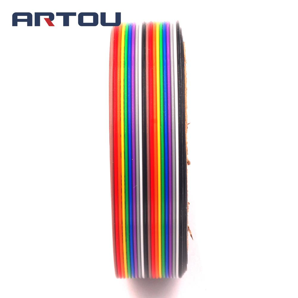 5Meters Ribbon Cable 20 WAY Flat Color Rainbow Ribbon Cable Wire Rainbow Cable 20P Ribbon Cable 1.27MM Pitch