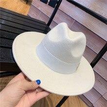 01907-yuchun Шерсть Формальные фетровые шляпы кепки для мужчин и женщин для отдыха Панама джазовая, шляпа