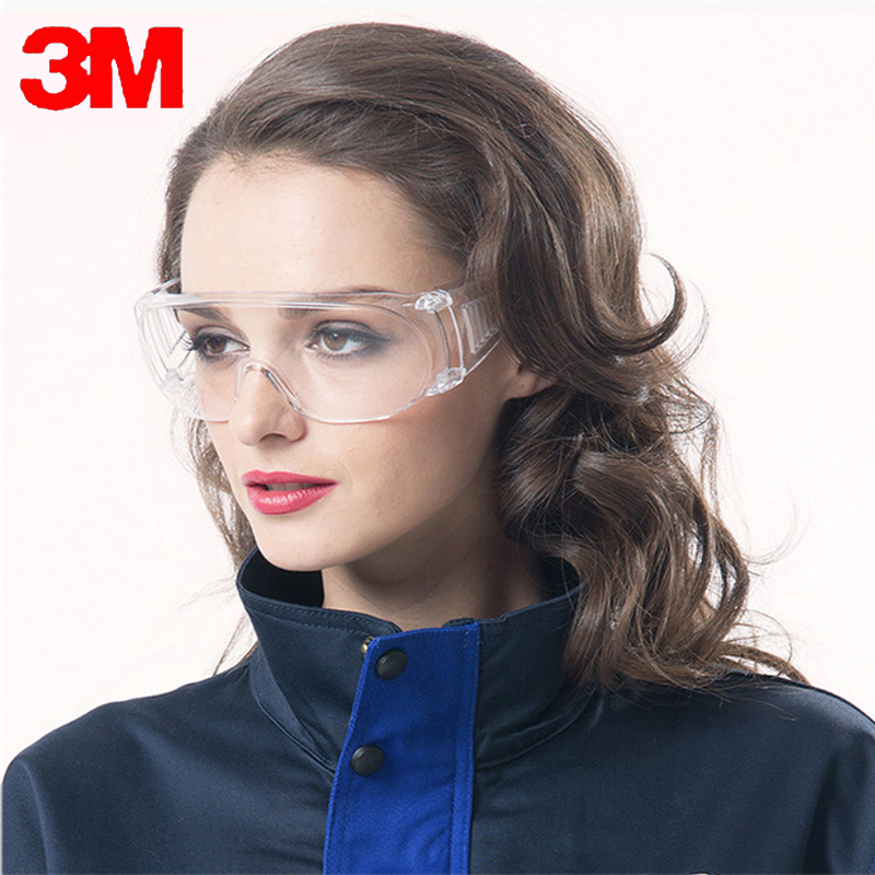 3M1611HC Safety Glasses Work Anti Chemical Splash Goggles Economy Clear Lens Eye Protection Labor Sand-proof Scratch Resistent