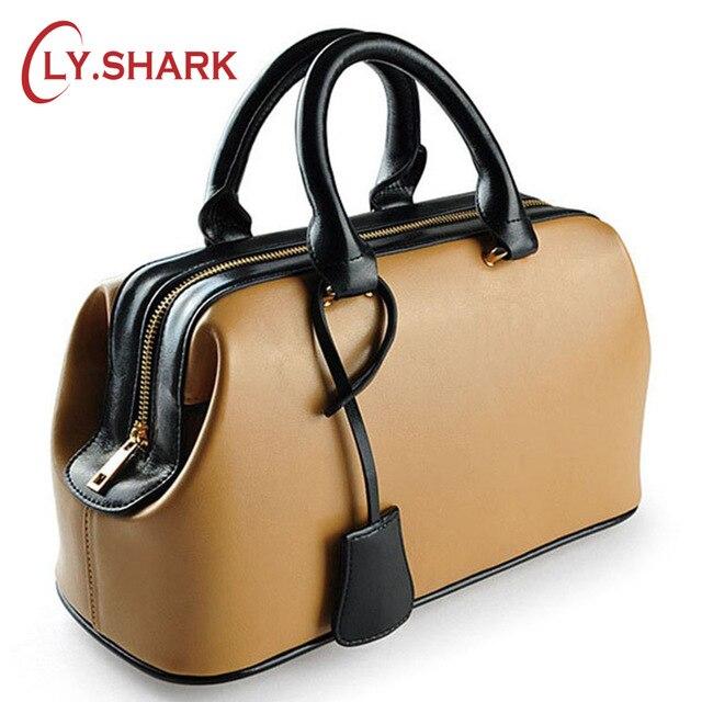 LY. SHARK luksusowe torebki damskie projektant znanych marek oryginalne skórzane torby dla kobiet 2018 panie ręcznie torby lato torba na drobiazgi w Torby z uchwytem od Bagaże i torby na  Grupa 1