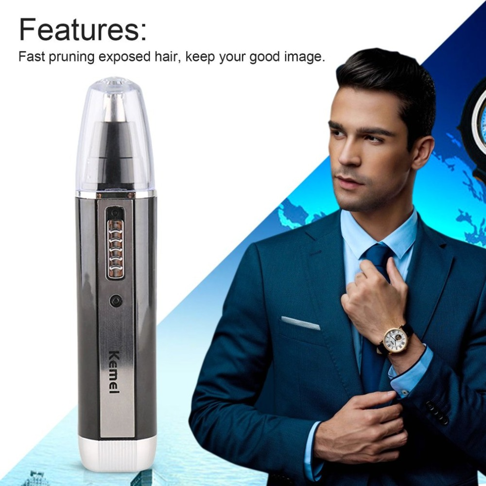 Multifunctional 3-In-1 KM-6631 Electric Nose Hair Trimmer Rechargeable Shaver Clipper Shaving Scraping Shaping Device Safe Face