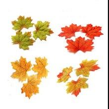 купить 100Pcs Artificial Silk Maple Leaves For Home Wedding Party Decoration Scrapbooking Craft Multicolor Fall Vivid Fake Flower Leaf по цене 120.58 рублей