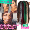 "18"" 24 Roots Ombre Micro Crochet BOX Braids 100g 3S box braid Small Box crochet braiding Senegalese Twist hair Extensions"