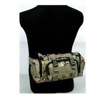Tactical Woodland Camo SWAT Molle Utility Hunting Waist Pouch Bag Pack Shoulder Bag