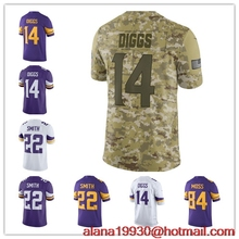 890519bd3 Youth Kids Harrison Smith Stefon Diggs Minnesota Color Rush Salute to  Service Vapor Untouchable Limited Camo Jersey