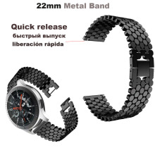 22mm Bracelet Stainless steel metal Band For Xiaomi Amazfit GTR 47mm Pace Stratos 2 Watch Strap For Samsung Gear S3 Galaxy 46mm