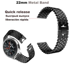 Купить с кэшбэком Smart Watch Strap 22mm Metal Steel Bracelet Band for Huami Amazfit Pace Stratos 2 for Huawei Watch GT Pro for Samsung Gear S3