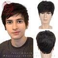 Здоровый полный Реми реальные Человеческие волосы парики для мужчин Короткие волосы система накладки для мужчин Полный Человеческий парик мужские Парики шнурка волос замена