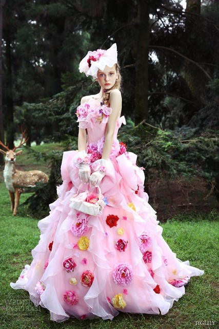 2015 New Arrival Japanese Wedding Dresses Fanciful Colorful Japan ...