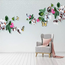 Custom 3D mural modern minimalist literary fashion background wall decoration painting wallpaper photo