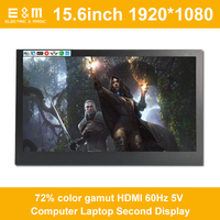 Hot Selling 15.6 Inch IPS LCD Screen For PS4 XBOX NS Game Monitor 1920*1080P HDMI 60Hz 5V Computer Laptop Second Display
