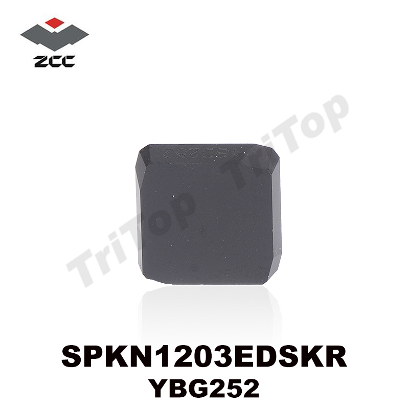 ZCCCT Lathe Cutting Tool SPKN plate tungsten carbide  CNC Milling insert plate YBD252 SPKN1203EDSKR CNC MILLING TOOL SPKN1203 hot selling internal grooving and turning tool holder c20q qfdl05 27 c20q qfdr05 27 for zccct carbide insert ztfd0303 mg