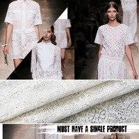 では夏の2016白100%綿レース透かしファッションレディースドレススカートカスタム高-グレード生地