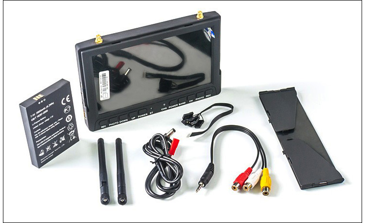 Haute qualité Skysight RC708 5.8G 40CH diversité Rx 7 pouces moniteur entrée HDMI DVR affichage Ppm prise en charge fatrequin ImmersionRC