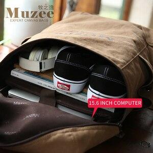 Image 4 - Muzee sac à dos en toile pour hommes, sacoche pour livres pour étudiants, grande capacité, sac à dos de voyage à la mode, Mochila mâle, nouvelle collection