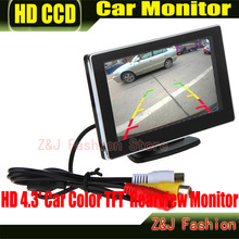 On sale Car 4.3″ Digital Color TFT 16:9 LCD Car Reverse Monitor with 2 Bracket holder HD Rearview Camera DVD VCR Monitor ZJ