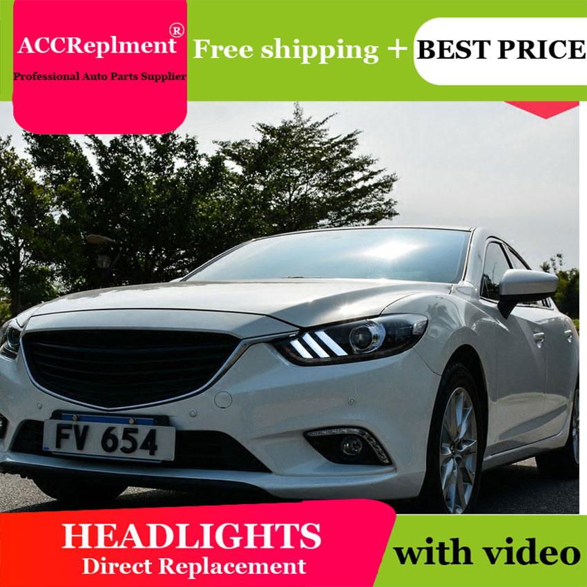 Style de voiture pour Mazda ATENZA phares U angel eyes 2014 pour Mazda ATENZA lumière LED bar Q5 bi xénon lentille projecteur LED ampoule