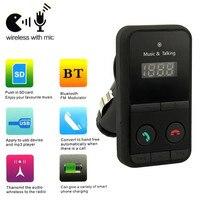 Negro Manos Libres Inalámbrico Bluetooth Car Kit FM Del Modulador Del Transmisor Reproductor de MP3 USB SD LCD de Control Remoto de Coches Reproductor de Música A29
