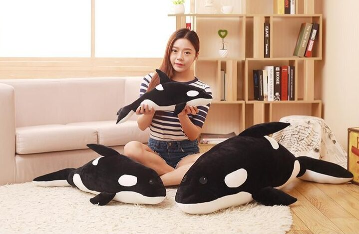 Marine animal large killer whale plush toy soft throw pillow birthday gift w0999 simulation animal lifelike shark 140cm toy plush toy throw pillow birthday gift b4921