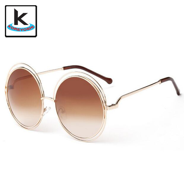 Newest Fashion Carlina Round Wire Frame Sunglasses 2015 New Vintage Fashion Sun Glasses Women Brand Designer