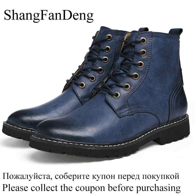 Mannen Laarzen Lederen Winter Sneeuw Schoenen Mode Mannen Winter Laarzen Puntschoen Mid-Kalf Laarzen Voor Mannen Enkel antisliplaarzen