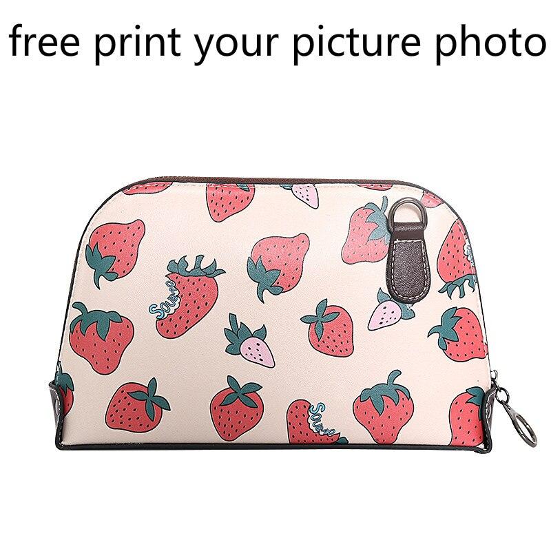 Genuine Leather shell bag female fashion large capacity shoulder bag mobile phone bag picture photo customized DIY handbag