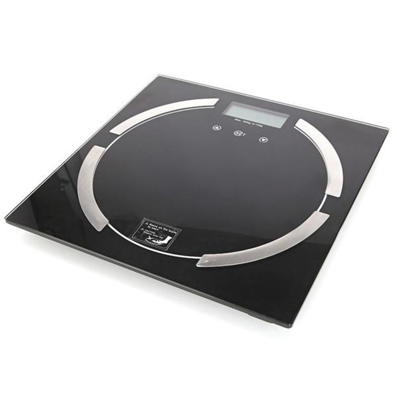 LUOEM Bathroom Scales Digital Body Weight Measurement Backlight Body Fat Scale Balance Scale (Black)