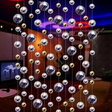 Имитация штора из металлических шариков для гостиниц танцевальные залы фестивали праздничные шторы Рождественские Свадебные украшения