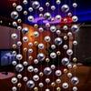 Free Shipping Vacuum Plating UV Bead Curtain Imitation Metal Curtain Hotels Dance Halls Decorative Curtains Shiny