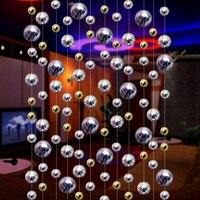 Imitación cortina de cuentas de metal hoteles salones de baile festivales fiesta cortinas decoraciones de la boda de Navidad
