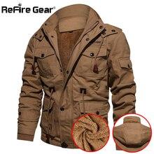 Refire gear теплая военная куртка для мужчин, армейская куртка пилота, теплая зимняя одежда для мужчин, пальто с капюшоном, повседневная шерстяная куртка с подкладкой, тактическая куртка