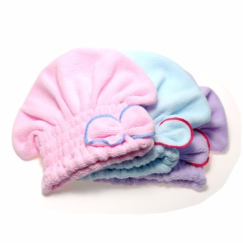 2016 Useful  Hair Turban Wrapped Towel  Hair Quickly Dry Hat Microfiber Home Textile Bathing Accessories