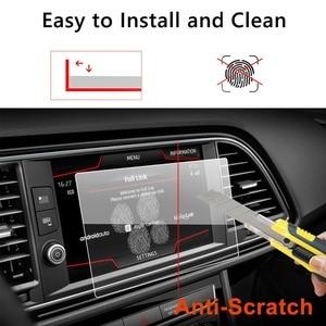 Image 4 - Ruiya protetor de tela do carro para leon x perience 8 Polegada 2017 gps navegação touch center display auto interior adesivos acessórios