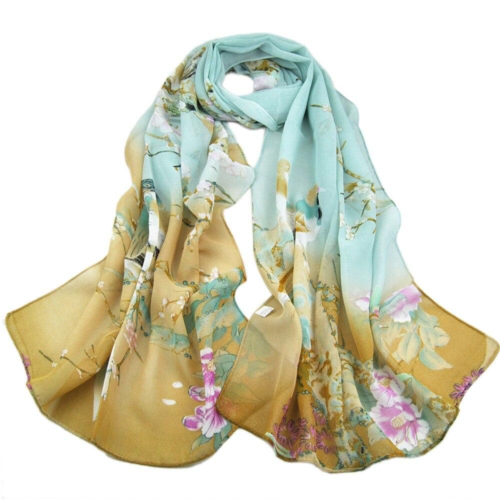 Fashion Women spring Long animal print Shawl   Scarf     Wrap   Chiffon   Scarves