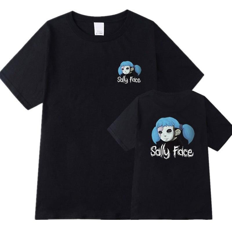 2019 Summer Sally Face Cotton T Shirt Men/Women Harajuku Short Sleeve Cartoon Printed T-Shirt Casual Clothing Cosplay Costume