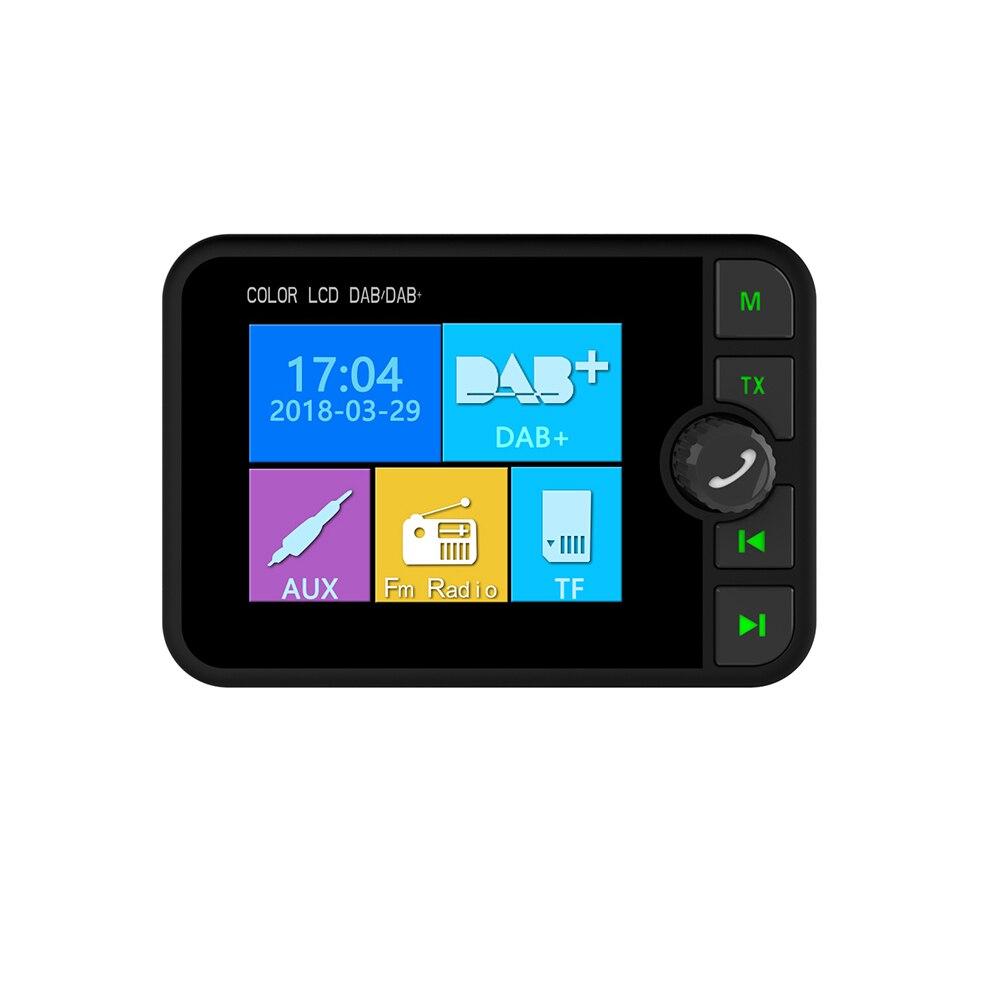 2.4 pouces Mini Bluetooth FM émetteur DAB récepteur Radio coloré TFT sortie Audio DAB Tuner utilisation en Europe australie seulement