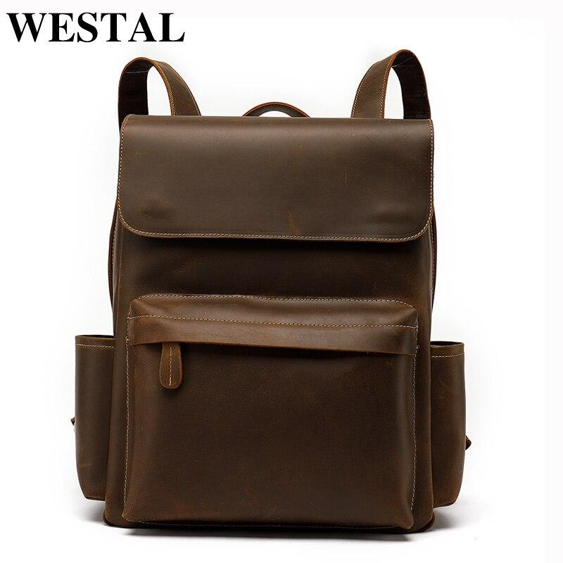 купить WESTAL Laptop Backpack Men Travel Large Capacity Backpack School for Teenager Man Backpacks Bags Notebook Bagpack Computer Bags по цене 6393.8 рублей